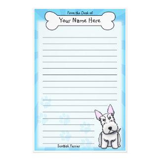 Kawaii White Scottish Terrier Stationery