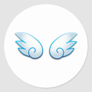 Kawaii wings classic round sticker