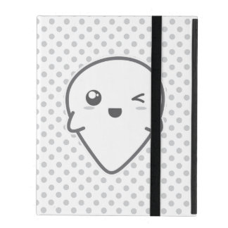 Kawaii Winking Ghost iPad Case
