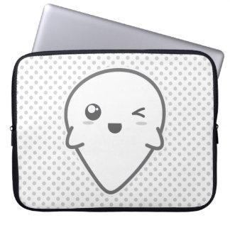Kawaii Winking Ghost Laptop Sleeve
