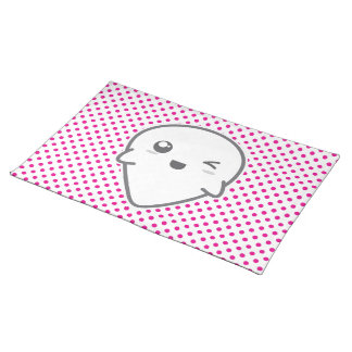 Kawaii Winking Ghost Placemat