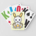 Kawaii Yellow Bunny Bicycle Poker Cards