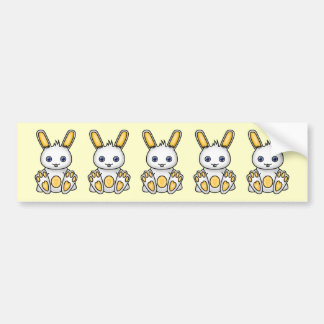 Kawaii Yellow Bunny Bumper Sticker