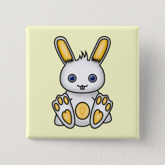 Kawaii Yellow Bunny Button