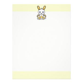 Kawaii Yellow Bunny Letterhead