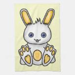 Kawaii Yellow Bunny Towels