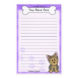 Kawaii Yorkshire Terrier Stationery