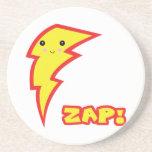 kawaii zap lightning bolt beverage coaster