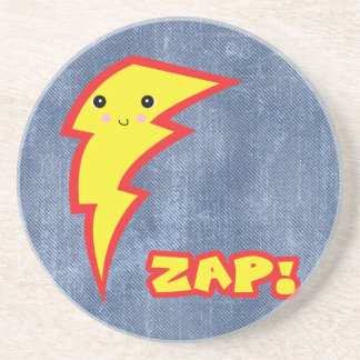 kawaii zap lightning bolt drink coaster