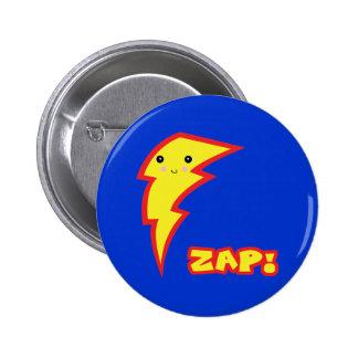 kawaii zap lightning boltt 2 inch round button