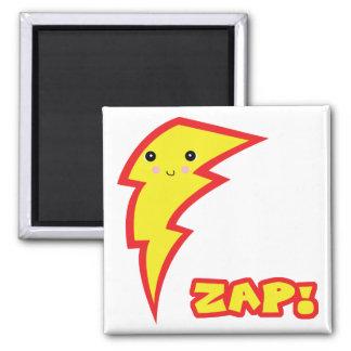 kawaii zap lightning boltt 2 inch square magnet