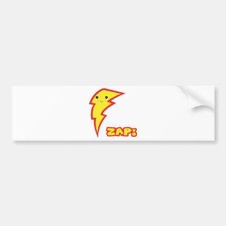 kawaii zap lightning boltt car bumper sticker