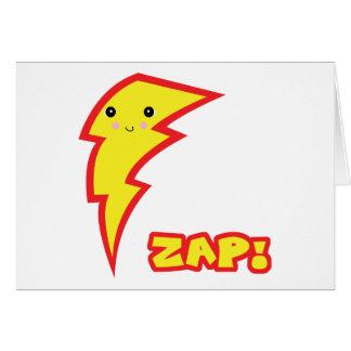 kawaii zap lightning boltt greeting card