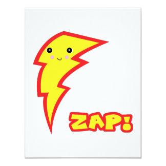 kawaii zap lightning boltt 4.25x5.5 paper invitation card