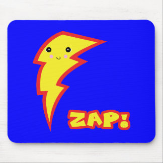 kawaii zap lightning boltt mouse pad