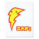 kawaii zap lightning boltt personalized invitation
