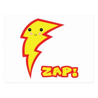 kawaii zap lightning boltt postcard