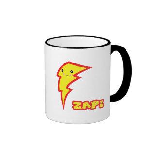 kawaii zap lightning boltt ringer coffee mug