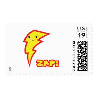 kawaii zap lightning boltt stamp