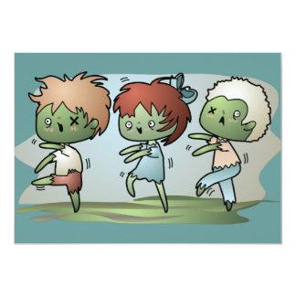 "Kawaii Zombie 5"" X 7"" Invitation Card"