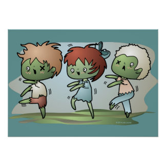 Kawaii Zombie Posters
