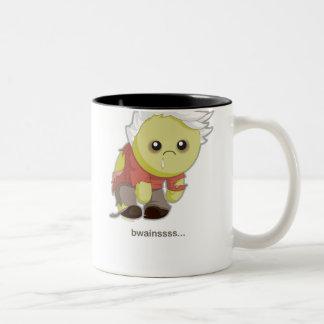 Kawaii Zombie Two-Tone Coffee Mug