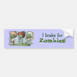 Kawaii Zombies Car Bumper Sticker