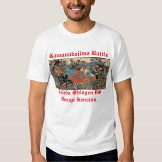 Kawanakajima Takeda Shingen and Uesugi Kenshin. Tee Shirt