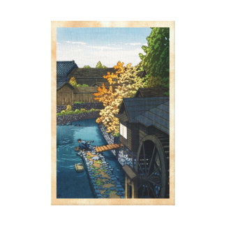 Kawanishi Village, Tochigi Prefecture Hasui Kawase Canvas Print