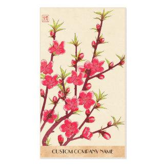 Kawarazaki Shodo Floral Calendar of Japan Cherry Business Card Templates
