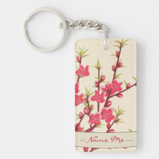 Kawarazaki Shodo Floral Calendar of Japan Cherry Double-Sided Rectangular Acrylic Keychain
