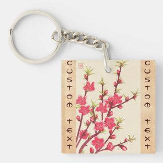 Kawarazaki Shodo Floral Calendar of Japan Cherry Double-Sided Square Acrylic Keychain