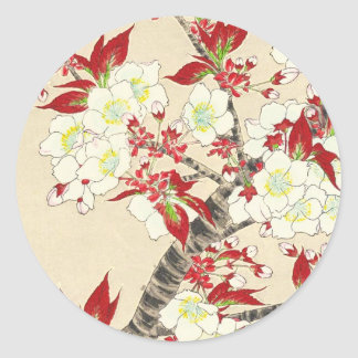 Kawarazaki Shodo Floral Calendar of Japan Classic Round Sticker