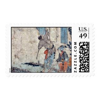 Kawasaki  by Katsushika, Hokusai Ukiyoe Stamp