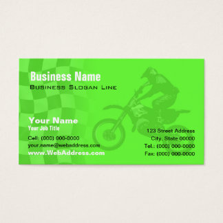 Kawasaki Green Motocross Business Card