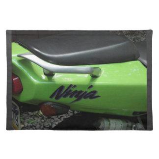 Kawasaki Green Ninja ZX-6R Motocycle, Street Bike Cloth Placemat