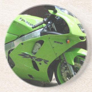 Kawasaki Green Ninja ZX-6R Motocycle, Street Bike Drink Coaster