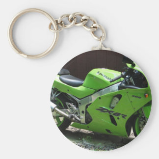 Kawasaki Green Ninja ZX-6R Motocycle, Street Bike Key Chains