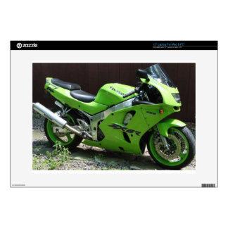 Kawasaki Green Ninja ZX-6R Motocycle, Street Bike Laptop Decals