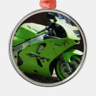 Kawasaki Green Ninja ZX-6R Motocycle, Street Bike Metal Ornament