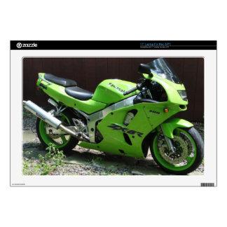"Kawasaki Green Ninja ZX-6R Motocycle, Street Bike Skins For 17"" Laptops"