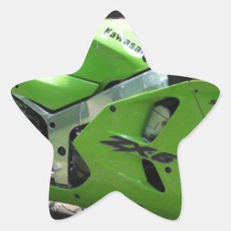 Kawasaki Green Ninja ZX-6R Motocycle, Street Bike Star Sticker
