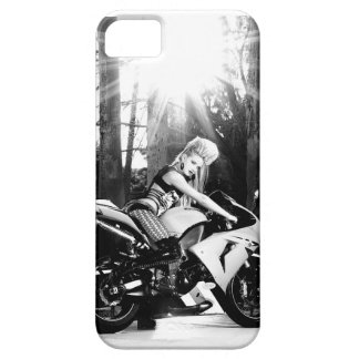Kawasaki Motorcycle, biker chick, bike week, girl iPhone SE/5/5s Case
