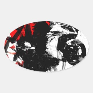 kawasaki ninja oval stickers
