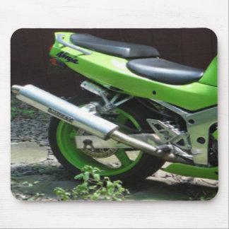 Kawasaki Ninja verde ZX-6R Motocycle, bici de la c Tapete De Ratón
