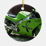 Kawasaki Ninja verde ZX-6R Motocycle, bici de la Adornos