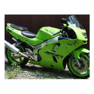 Kawasaki Ninja verde ZX-6R Motocycle, bici de la Postales
