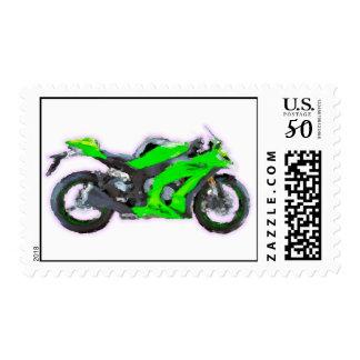 Kawasaki Ninja ZX 10R Hand Painted Art Brush Stamp