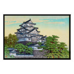 Kawase Hasui Pacific Transport Lines Himeji Castle Poster