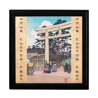 Kawase Hasui Shinto Architecture Meiji Shrine art Trinket Boxes